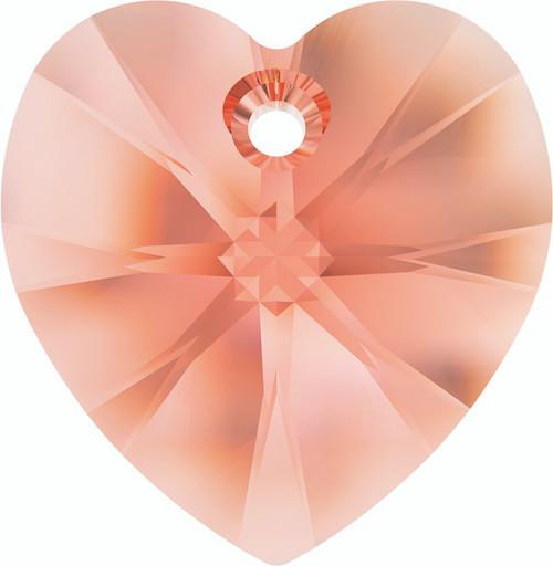 Swarovski 6228 18mm Xilion Heart Pendants Rose Peach (72 pieces)