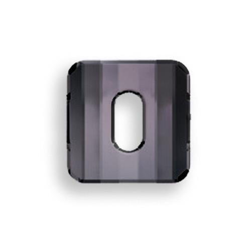 Swarovski 3037 10mm Square Button Jet Hematite (72  pieces)