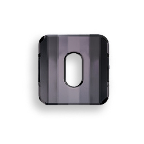 Swarovski 3037 12mm Square Button Jet Hematite (48  pieces)