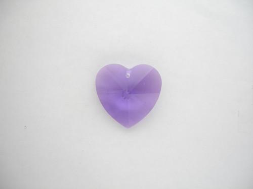 Swarovski 8781 20mm Heart Prism Blue Violet (2 pieces)