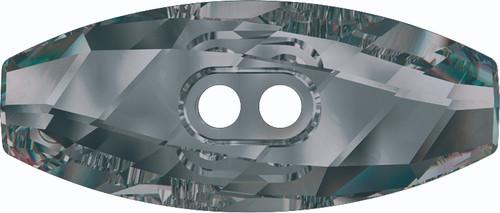 Swarovski 3024 23mm Dufflecoat Crystal Button Jet (36  pieces)