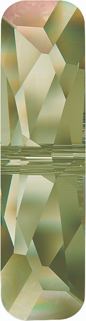 Swarovski 5534 14mm Column Bead  (one hole) Crystal Luminous Green