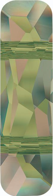 Swarovski 5535 23mm Column Bead  (two holes) Crystal Luminous Green