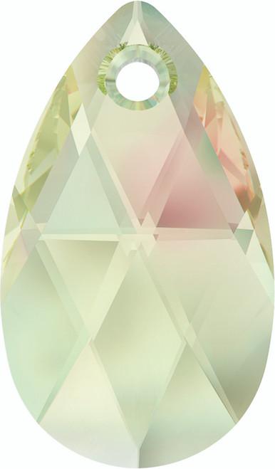 Swarovski 6106 28mm Pearshape Pendants Crystal Luminous Green (36  pieces)