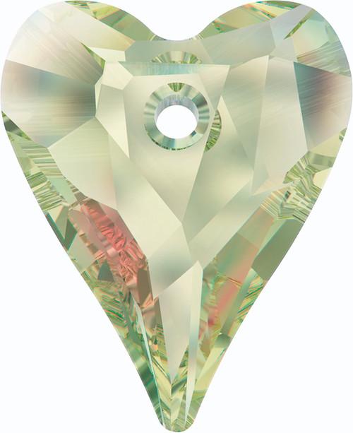 Swarovski 6240 17mm Wild Heart Pendants Crystal Luminous Green (72  pieces)