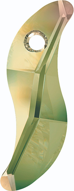 Swarovski 6525 19mm Wave Pendant Crystal Luminous Green (72  pieces)