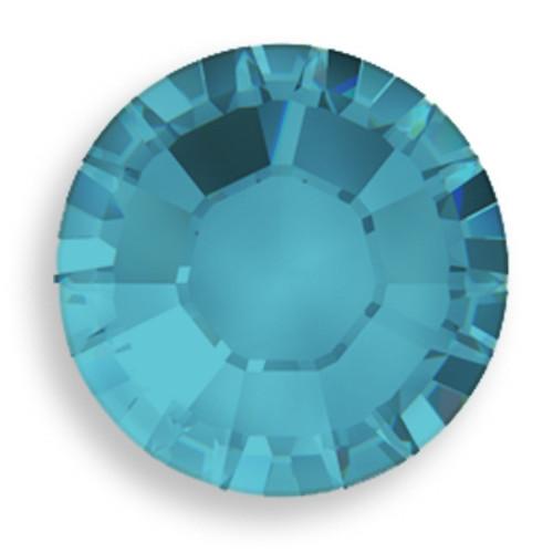 Swarovski 1028 18pp Xilion Round Stone Blue Zircon