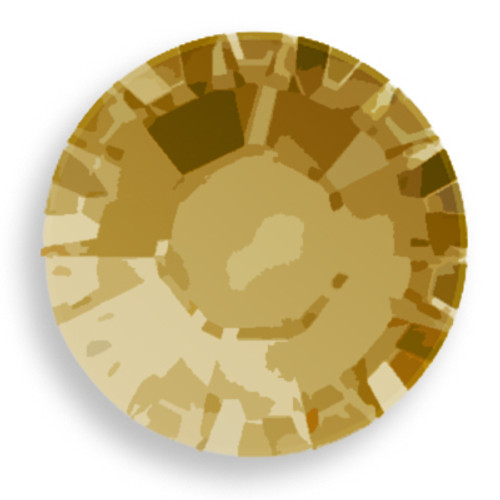 Swarovski 1028 18pp Xilion Round Stone Crystal Dorado
