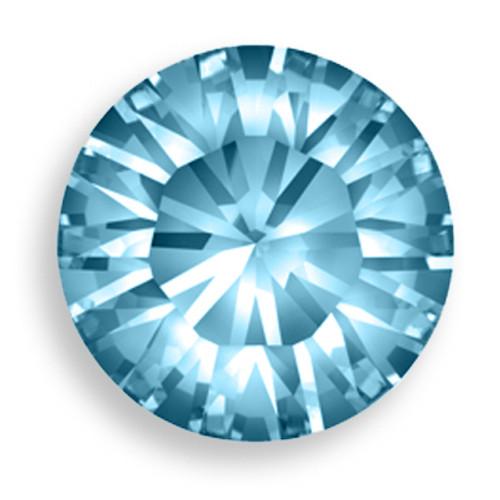 Swarovski 1028 20ss Xilion Round Stone Aquamarine