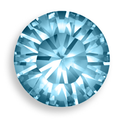 Swarovski 1028 27pp Xilion Round Stone Aquamarine