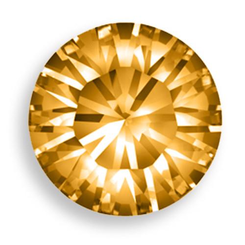 Swarovski 1028 32pp Xilion Round Stone Crystal Copper