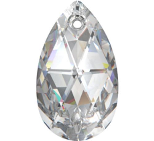 Swarovski 6106 22mm Pearshape Pendant Crystal Silver Shade (96  pieces)