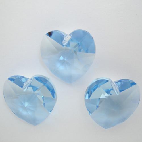 Swarovski 6228 14mm Xilion Heart Pendants Light Sapphire (9 pieces)