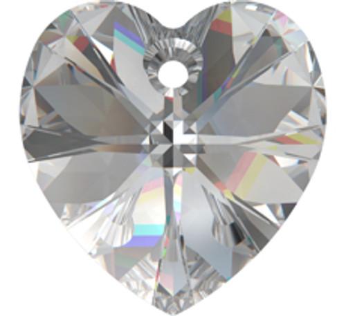 Swarovski 6228 18mm Xilion Heart Pendants Crystal Moonlight (72 pieces)