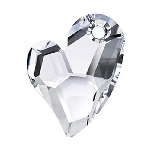 Swarovski 6261 17mm Devoted 2 U Heart Pendant Crystal AB (48  pieces)
