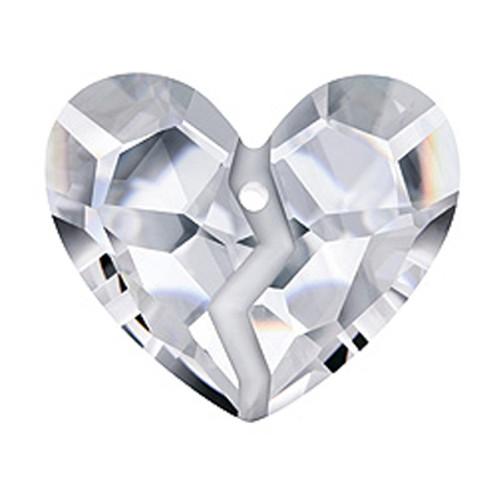 Swarovski 6263 36mm Forever 1 Heart Pendant Crystal Satin (6  pieces)