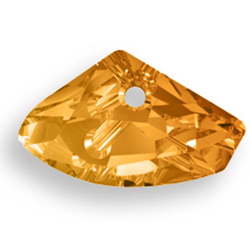 Swarovski 6657 23x39mm Galactic Horizontal Pendant Crystal Copper
