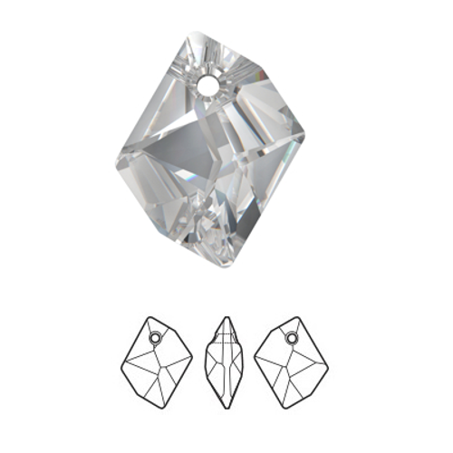 Swarovski 6680 20mm Cosmic Pendant Crystal Silver Shade (3  pieces)
