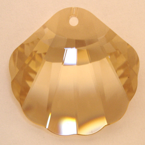 Swarovski 6723 28mm Shell Pendant Crystal Golden Shadow (18  pieces)
