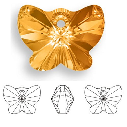 Swarovski 6754 18mm Butterfly Pendant Crystal Copper (3  pieces)