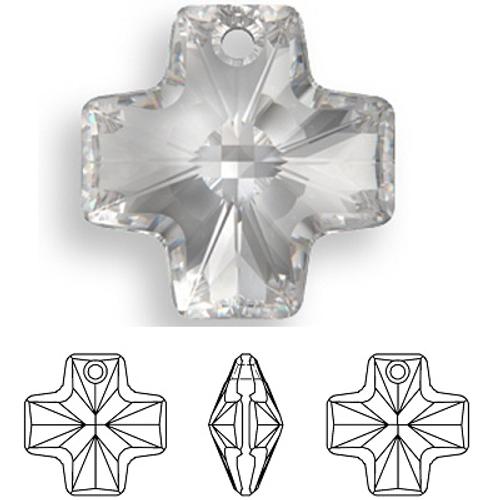 Swarovski 6866 20mm Equal Cross Pendant Crystal (72  pieces)