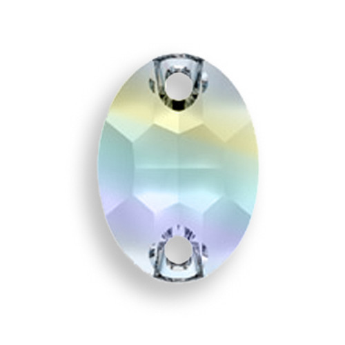 Swarovski 3210 10mm Oval Sew On x7 Crystal AB
