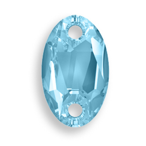 Swarovski 3231 28mm Oval Sew On x17 Aquamarine