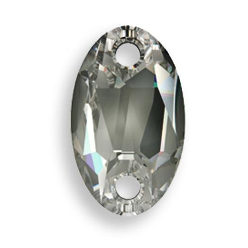 Swarovski 3231 28mm Oval Sew On x17 Black Diamond