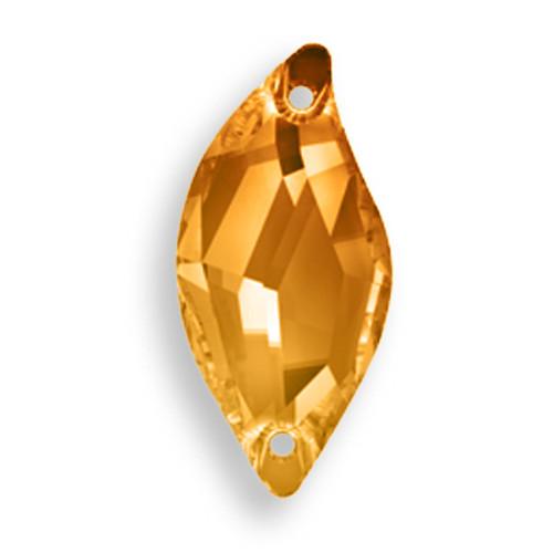 Swarovski 3254 20mm Leaf Sew On x9 Crystal Copper