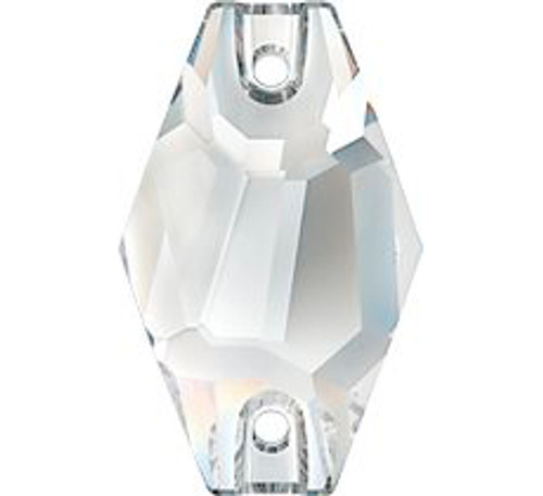 Swarovski 3261 18mm Hexagon Sew On Crystal Silver Night