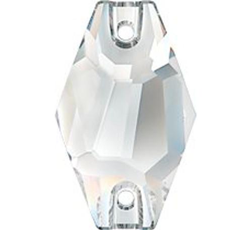 Swarovski 3261 28mm Hexagon Sew On Crystal Silver Shade