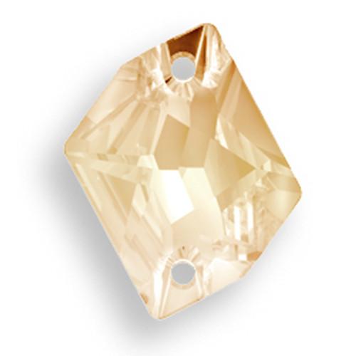 Swarovski 3265 26mm Cosmic Sew On x21 Crystal Golden Shadow