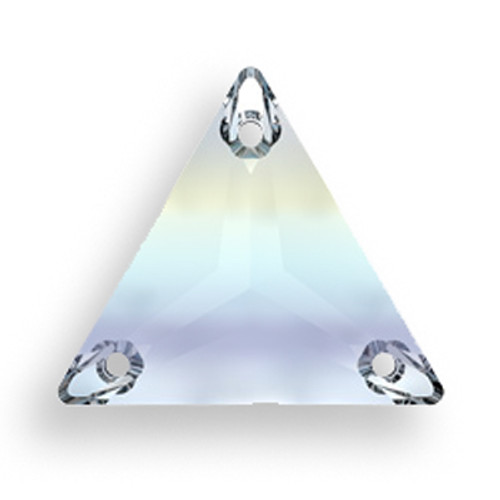 Swarovski 3270 16mm Triangle Sew On Crystal AB