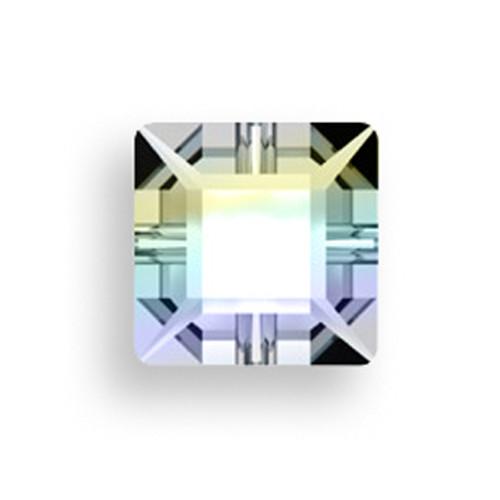 Swarovski 3400 6mm Square Sew On Crystal AB