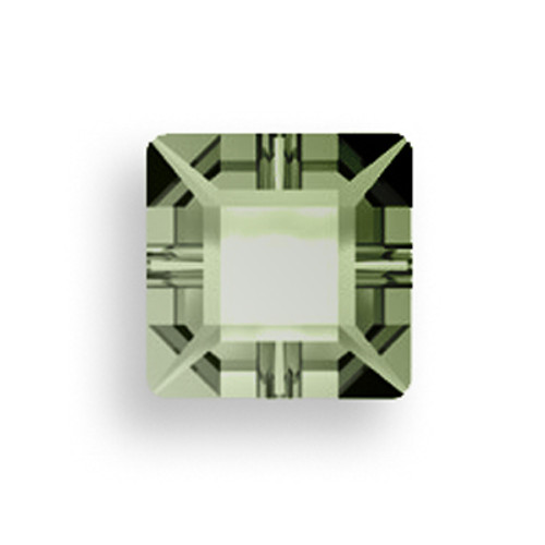 Swarovski 3400 6mm Square Sew On Crystal Sage