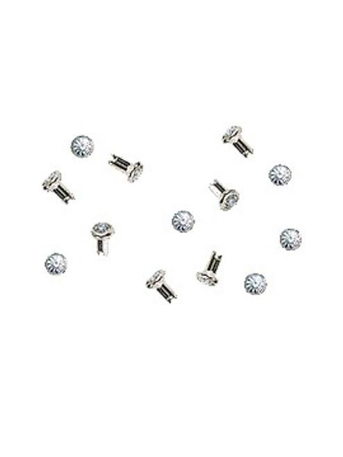 Swarovski Gold 53000 18ss (~4.3mm) Crystal Rivets with 4mm shank: Crystal Silver Shade