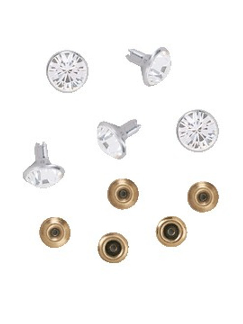 Swarovski Gold 53005 34ss (~7.15mm) Crystal Rivets with 4.2mm shank: Sapphire