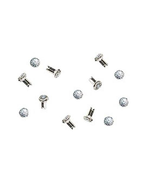 Swarovski Silver 53000 18ss (~4.3mm) Crystal Rivets with 4mm shank: Olivine