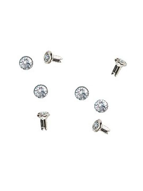 Swarovski Silver 53001 29ss (~6.25mm) Crystal Rivets with 4mm shank: Mocca