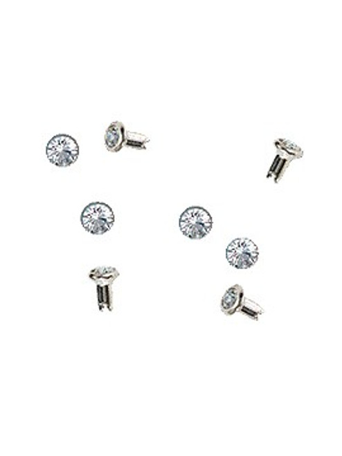 Swarovski Stainless Steel 53001 29ss (~6.25mm) Crystal Rivets with 4mm shank: Mocca