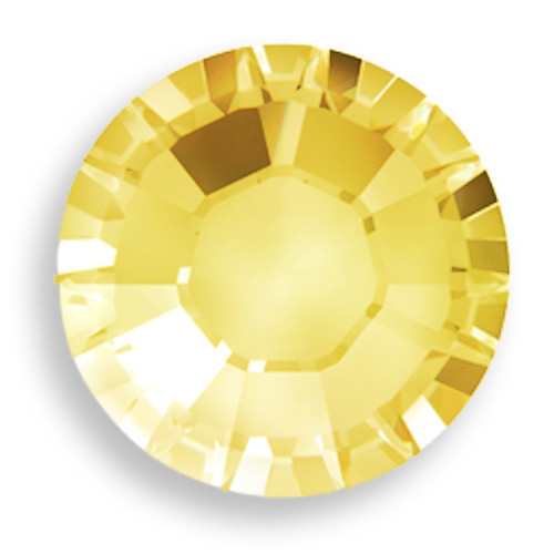 Swarovski 2028 10ss(~2.75mm) Xilion Flatback Citrine    Hot Fix