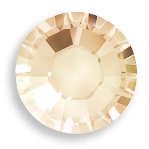 Swarovski 2028 10ss(~2.75mm) Xilion Flatback Crystal Golden Shadow  Hot Fix