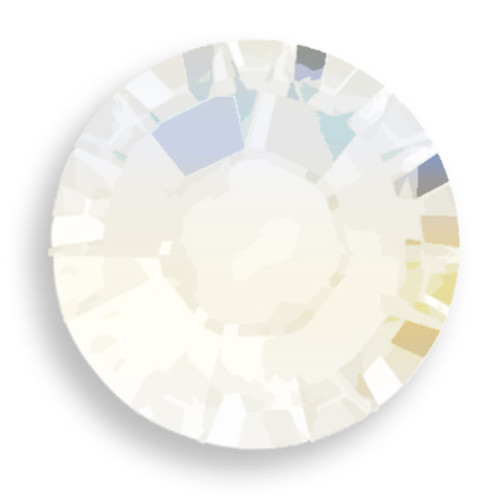 Swarovski 2028 10ss(~2.75mm) Xilion Flatback White Opal   Hot Fix