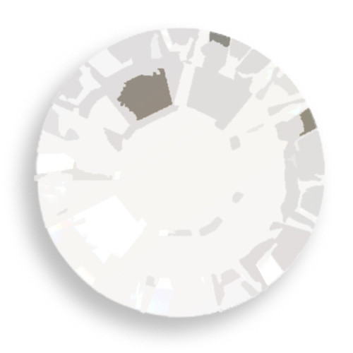 Swarovski 2028 12ss(~3.1mm) Xilion Flatback Chalk White   Hot Fix
