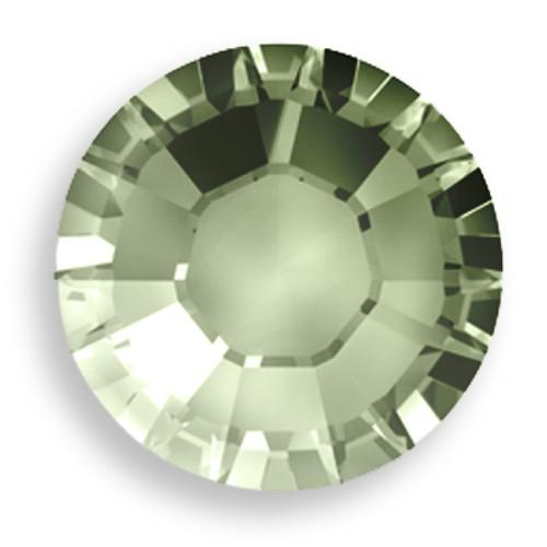 Swarovski 2028 12ss(~3.1mm) Xilion Flatback Crystal Sage   Hot Fix