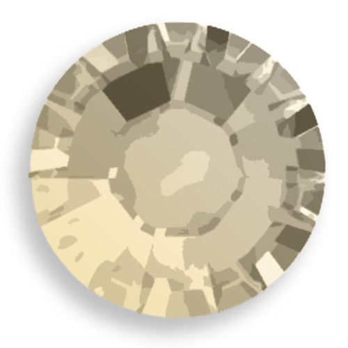 Swarovski 2028 16ss(~3.90mm) Xilion Flatback Light Grey Opal  Hot Fix