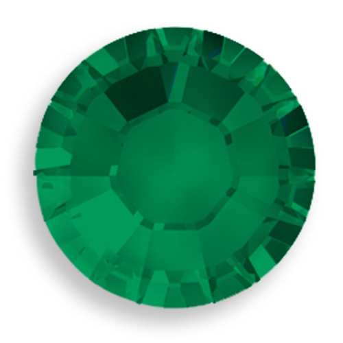 Swarovski 2028 20ss(~4.7mm) Xilion Flatback Emerald    Hot Fix