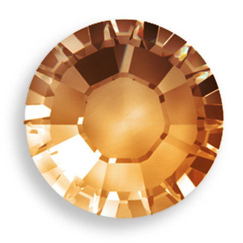 Swarovski 2028 34ss(~7.2mm) Xilion Flatback Smoked Topaz   Hot Fix