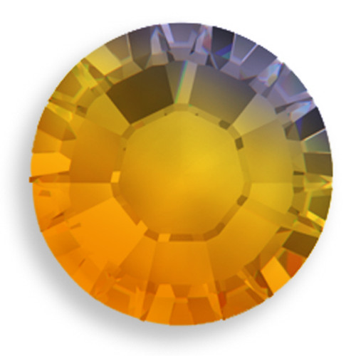 Swarovski 2028 34ss(~7.2mm) Xilion Flatback Topaz AB   Hot Fix
