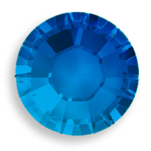 Swarovski 2028 5ss(~1.75mm) Xilion Flatback Capri Blue   Hot Fix